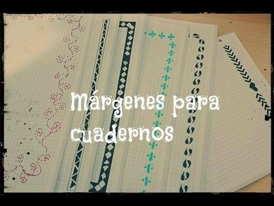 Márgenes para cuadernos. Vuelta al cole ( Muy fáciles y bonitos) - Anahí