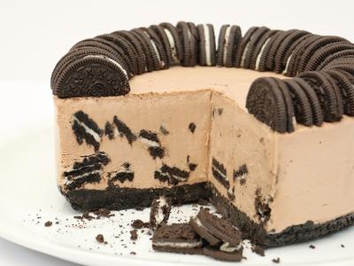 Oreo & Nutella Ice Cream Cake. HELADO DE OREO Y NUTELLA
