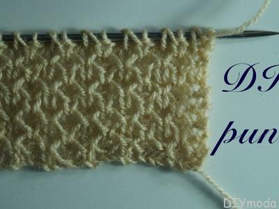 Punto para bufanda de primavera a dos agujas