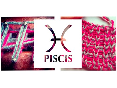 Punto Piscis en telar maya. Piscis Stitch on loom