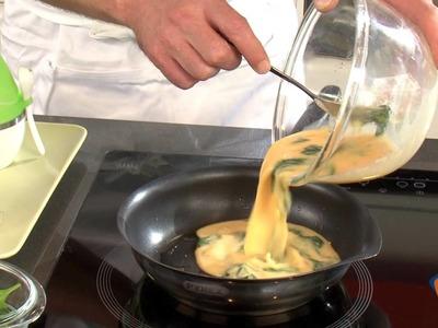 Tortilla de espinacas y queso fresco - Recetas rápidas Nestlé
