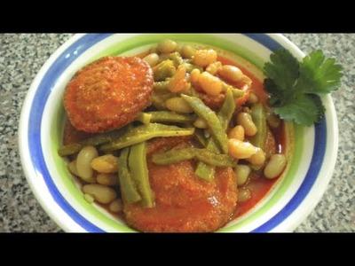 TORTITAS DE CAMARON con nopales y frijoles | Vicky Receta Facil