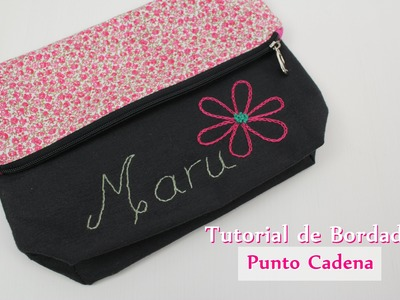 Tutorial #8 - Como bordar Punto Cadena - How to make chain stitch embroidery