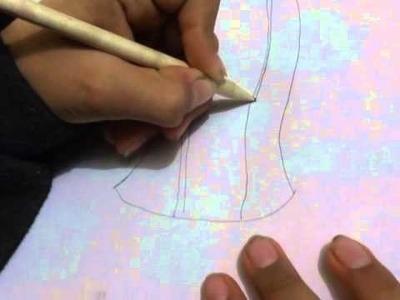 Como dibujar a la virgen de guadalupe facil y sencillo