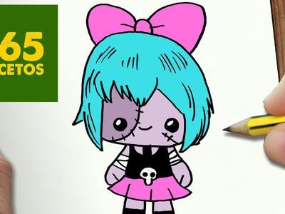 COMO DIBUJAR ZOMBIRELLA KAWAII PASO A PASO - Dibujos kawaii faciles - How to draw a ZOMBIRELLA