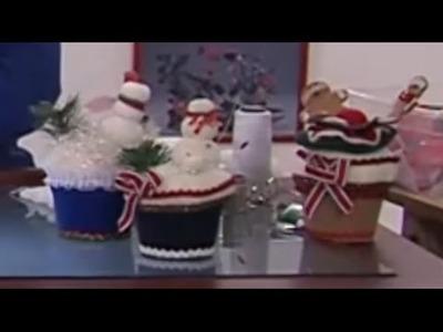Como Hacer Muffins en Icopor y Paño de Adorno Navideño- Hogar Tv  por Juan Gonzalo Angel