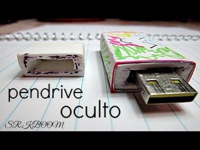 Como hacer  PenDrive Oculto Hidden PenDrive |sr.KBOOM