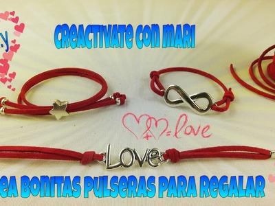 Como hacer pulseras de antelina para regalar, bracelets