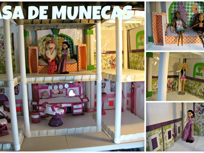 Como hacer una casa de munecas - BRATZ -Ever After High Dolls - Parte 3 - MANUALIDADES PARA MUNECAS
