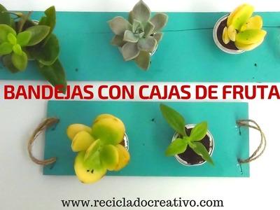 Cómo hacer unas bandejas con cajas de fresas de madera - DIY Reciclado