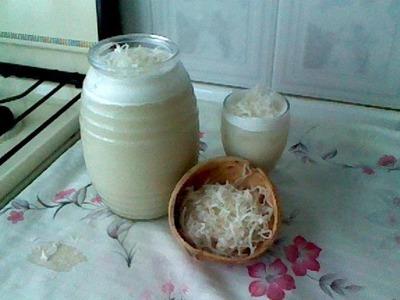 COMO PREPARAR AGUA FRESCA DE COCO. CREMA DE COCO