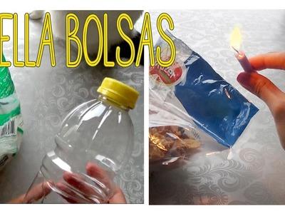 Como sellar bolsas plásticas con una vela y botellas plásticas │Candy Bu