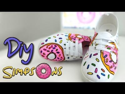 Decora tus zapatillas con la rosquilla de Homer Simpson - Isa ❤️