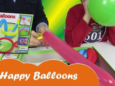 Juego para niños Happy Balloons creando globos divertidos de colores