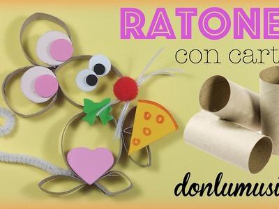 Manualidades con rollos de papel higiénico para niños. Ratón