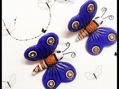 Mariposa de arcilla - tutorial como hacer mariposa de arcilla decoracion