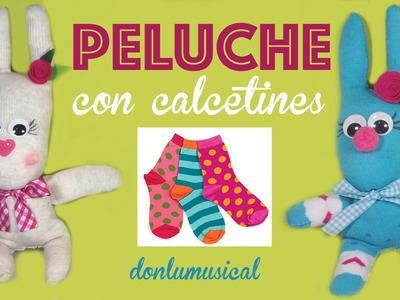 Muñeco con calcetines. Conejo peluche +SORTEO CERRADO + saludos