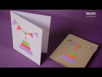Tarjetas de cumpleaños | Cómo hacer invitaciones | @iMujerHogar