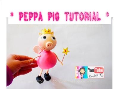 Tutorial Peppa Pig. Figuras para pastel porcelana fria cold porcelain