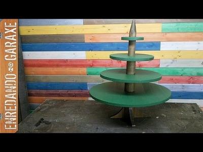 Árbol de navidad de madera parte 1, cortar las piezas