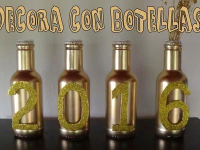 Cómo decorar botellas de vidrio - Candy Bu