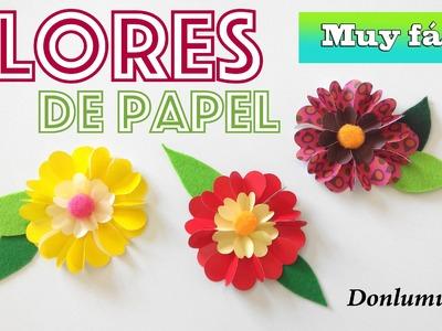 Cómo hacer flores de papel muy fácil. Manualidades DIY