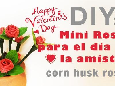 Como hacer rosas con hojas de maiz 21.how to make corn husk roses.totomoxtle