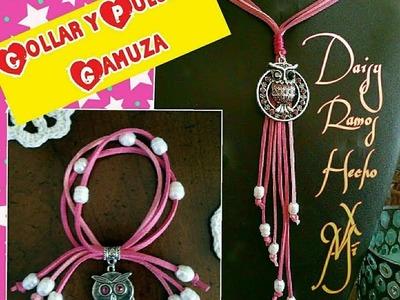 Fácil de Hacer Collar y Pulsera en Gamuza
