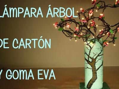 LÁMPARA DE CARTÓN Y GOMA EVA ESTILO ARIZONA