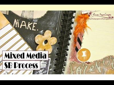 Let's Smash 04 - Mixed Media - Página de Smash Book