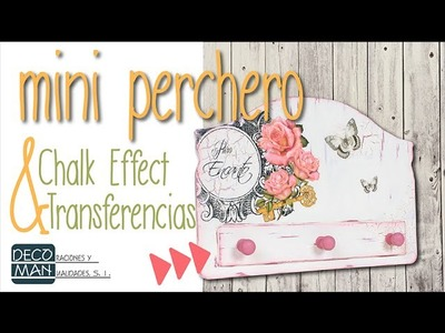 MINI PERCHERO CON CHALK EFFECT Y TRANSFERENCIAS | DECOMAN