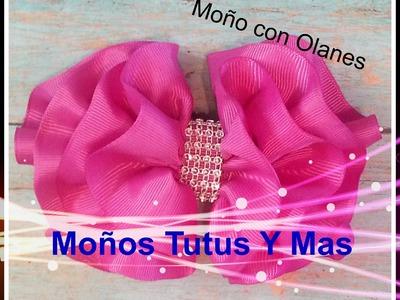 Moño Olan como hacer Moños con Ondas paso a paso WAVY HAIR BOW Tutorial DIY