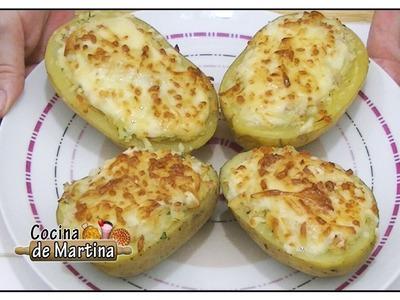 Patatas rellenas al horno | Recetas de cocina | Cocina de Martina