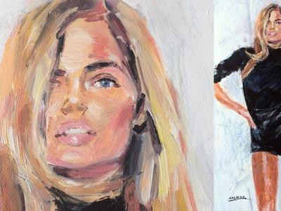 Pintar figura femenina. Painting female figure.