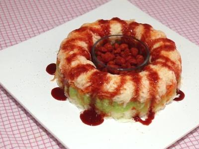 Rosca de verduras con chile para botana