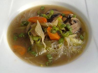 SOPA DE FIDEO, ORIENTAL, Receta # 130, recetas de comida china