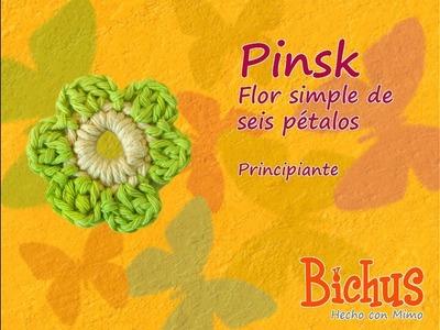Bichus - Pinsk - Flor simple de seis pétalos