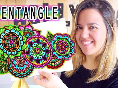Como colorear un ZENTANGLE ART!! (Con Rincon de Dalia) - Mery