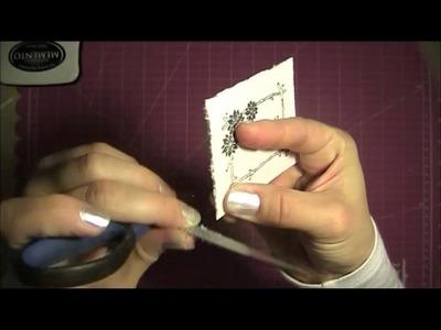 Cómo envejecer una tarjeta o etiqueta