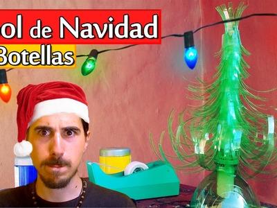 Cómo hacer un Árbol de Navidad con Botellas | Arte Track