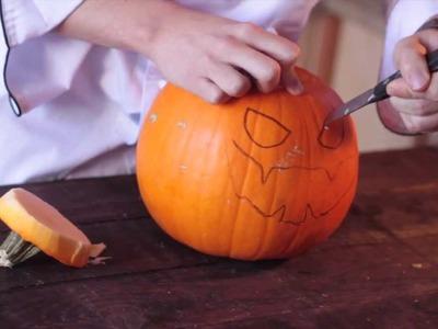 ¿Cómo hacer una calabaza para Halloween?