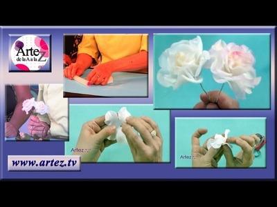 Como modelar rosas con porcelana fria