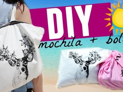 DIY Mochila y bolsa para la playa. Ideas para vacaciones de verano | Karen Rios