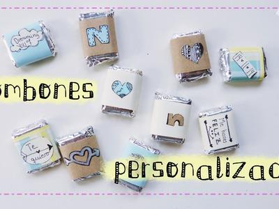 Envoltorios personalizados para dulces y bombones (idea regalo)