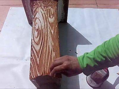 Imitación a madera en hormigón