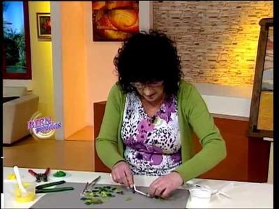 Liliana Waisman - Bienvenidas TV - Caja de té con flor en 3D
