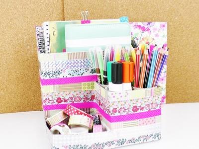 Organizador para escritorio | Con material reciclado