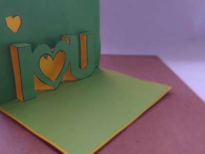 "Tarjeta ¡Pop Up! ""I LOVE YOU"" 