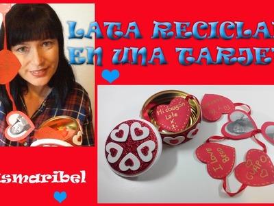 Tarjetas de San Valentín ,baratas y de reciclaje ,además con declaración de amor en el vídeo.