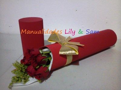 Caja para Rosas (flores) y Moño en Foami -  Paso a Paso